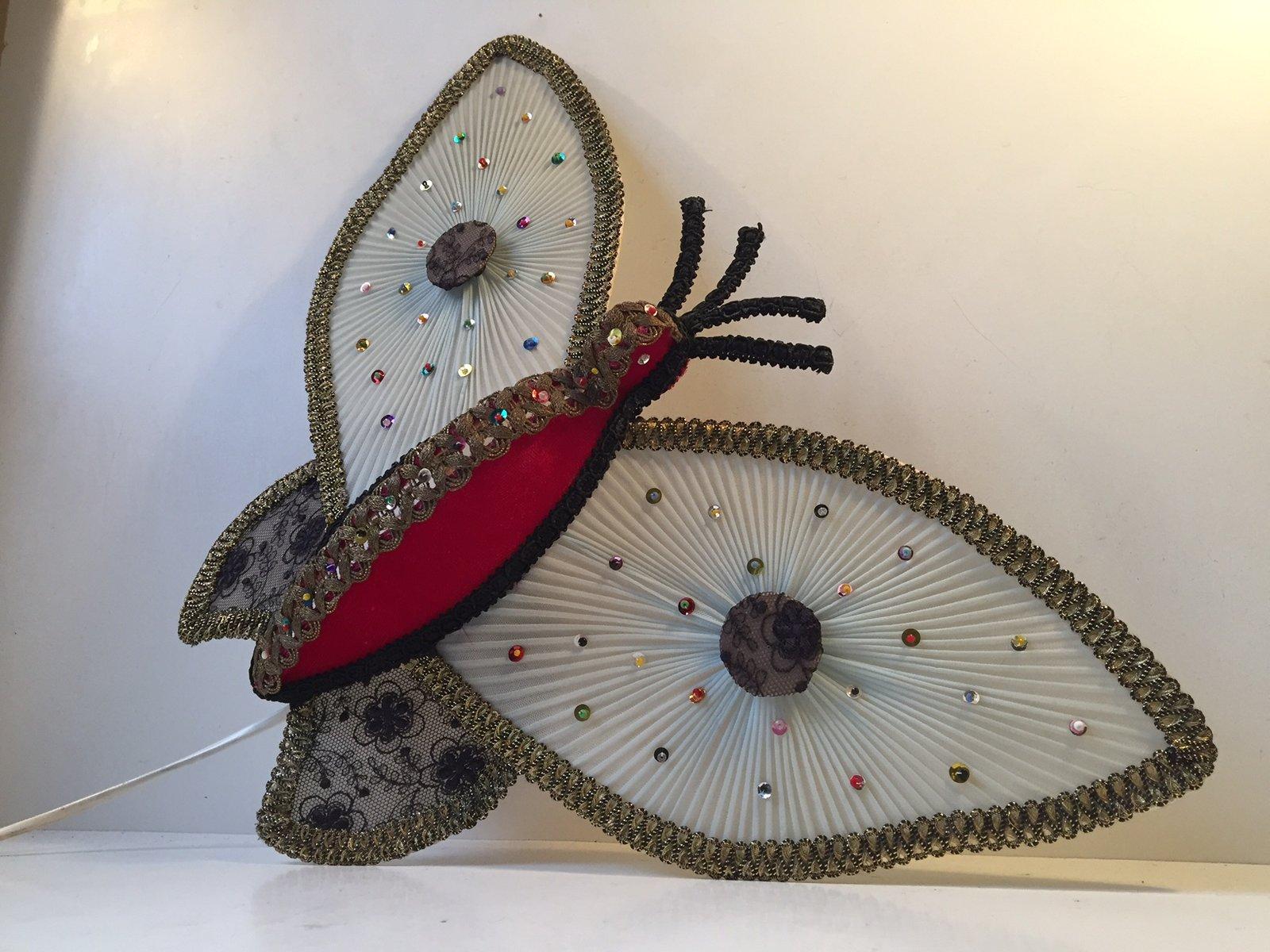 Dänische Mid-Century Schmetterling Wandleuchte,...