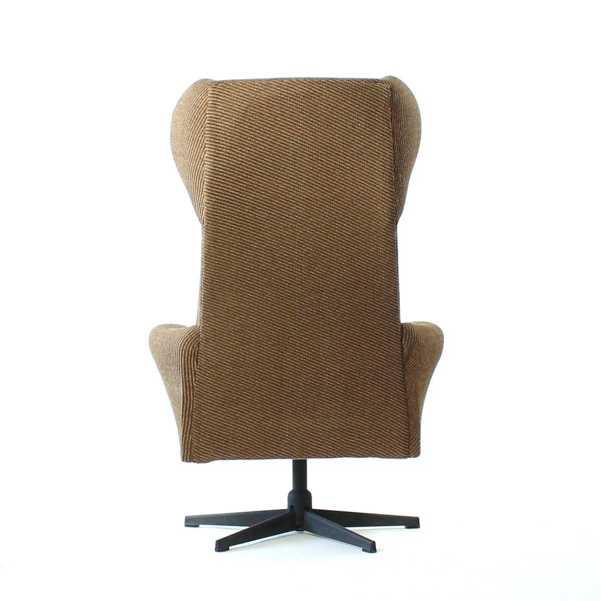 fauteuil oreilles pivotant en tissu marron r publique. Black Bedroom Furniture Sets. Home Design Ideas