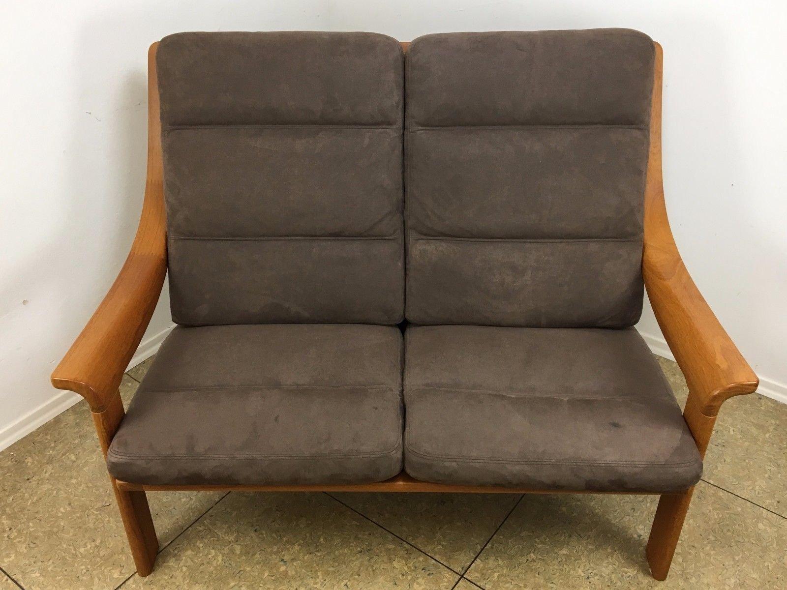 2 sitzer teak sofa von poul jeppesen 1970er bei pamono kaufen. Black Bedroom Furniture Sets. Home Design Ideas