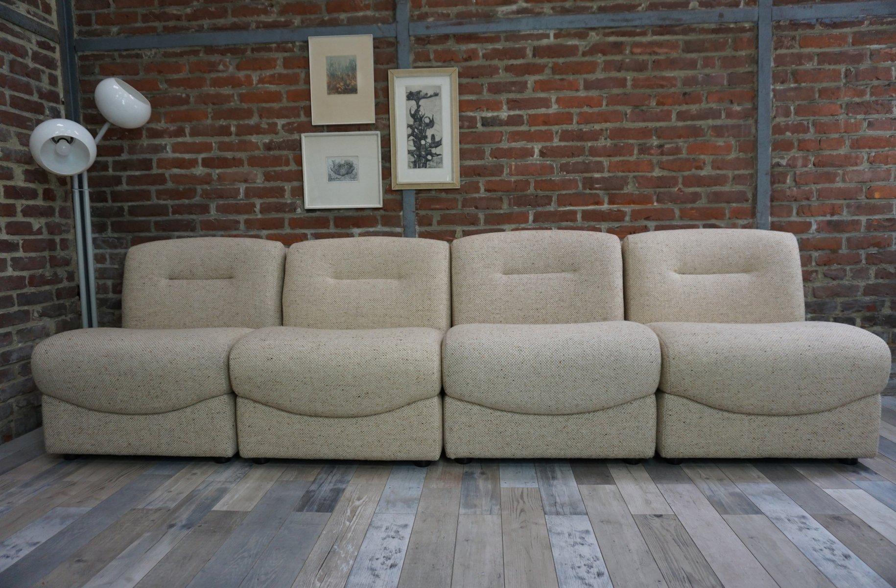 Modulare Vintage Sessel, 4er Set