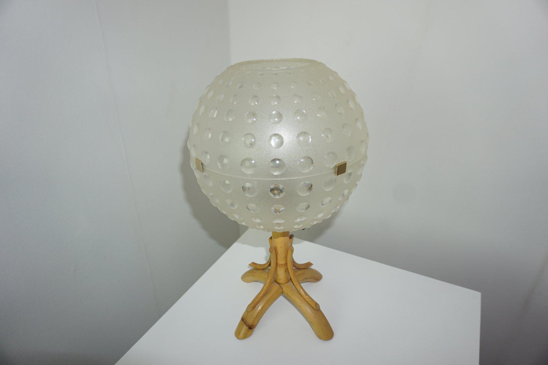 Vintage Rattan Lampe, 1960er