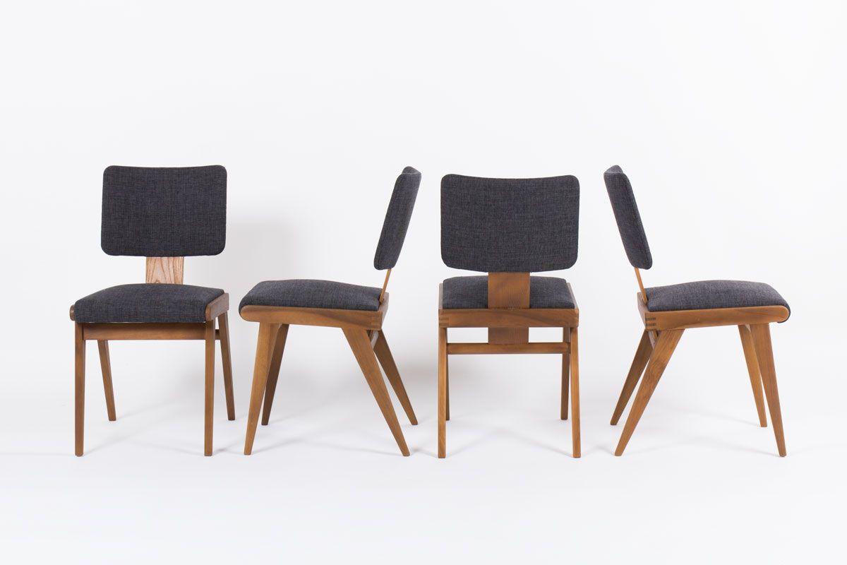 esszimmerst hle von andr sornay 1950er 4er set bei pamono kaufen. Black Bedroom Furniture Sets. Home Design Ideas