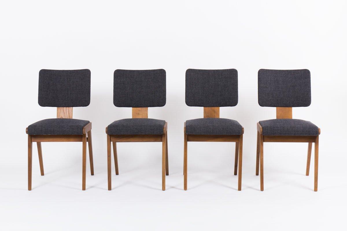 esszimmerst hle von andr sornay 1950er 4er set bei. Black Bedroom Furniture Sets. Home Design Ideas