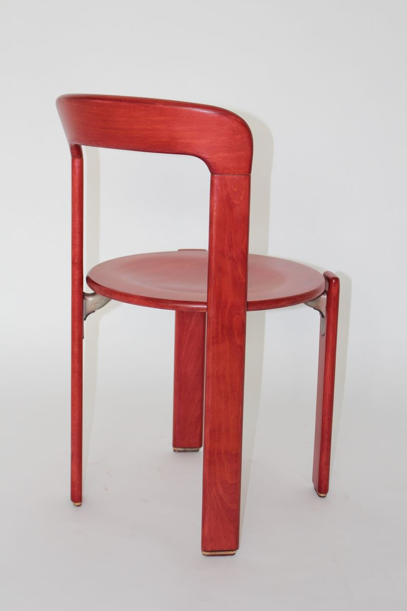 Vintage Red Dining Chairs By Bruno Rey For Kusch Co Set Of 6 For