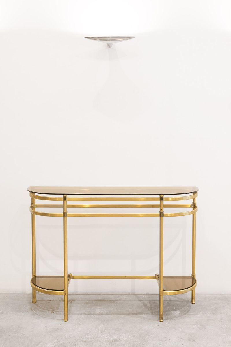 console en laiton italie 1960s en vente sur pamono. Black Bedroom Furniture Sets. Home Design Ideas