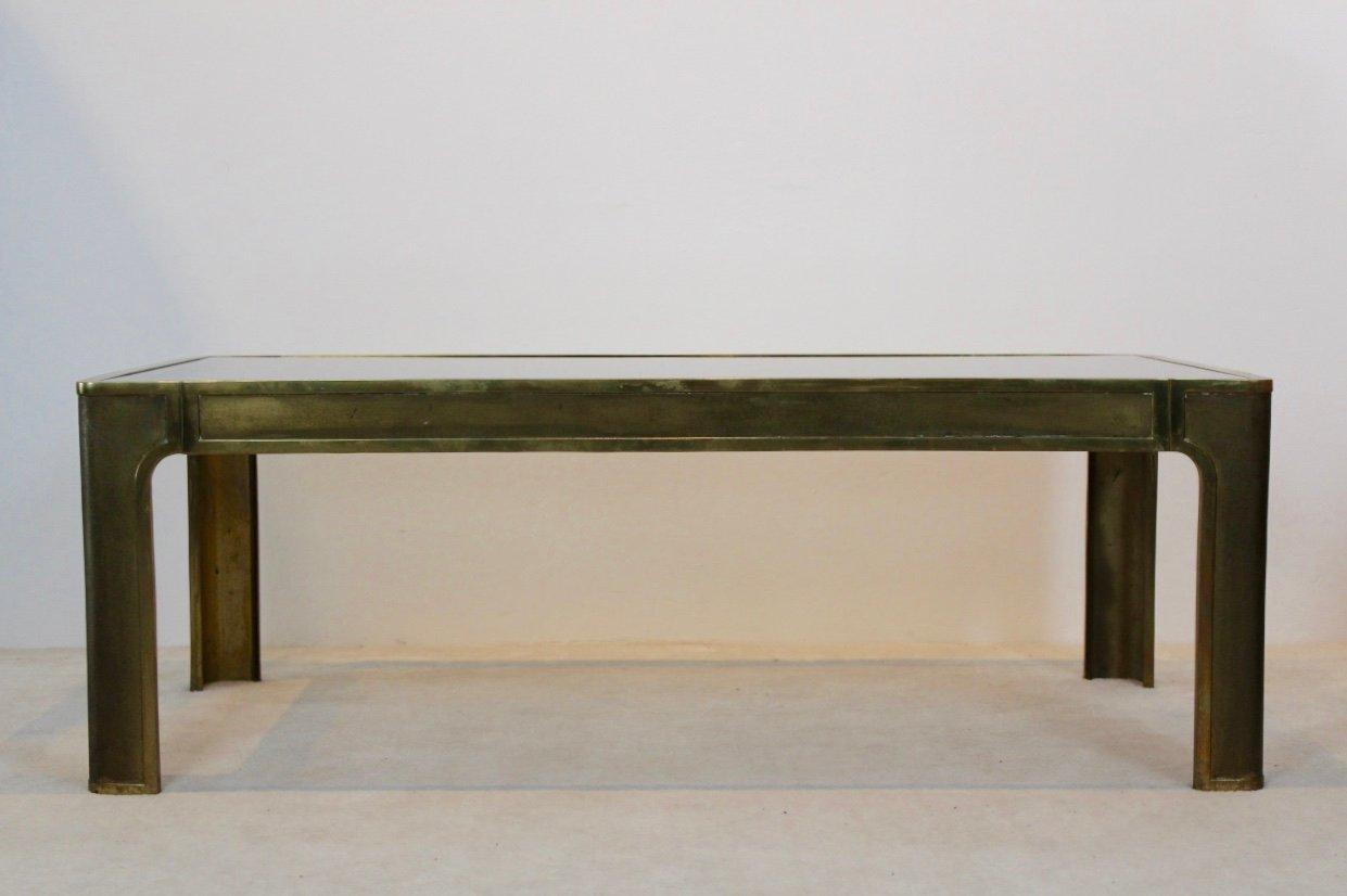 Messing & Glas Couchtisch, 1970er