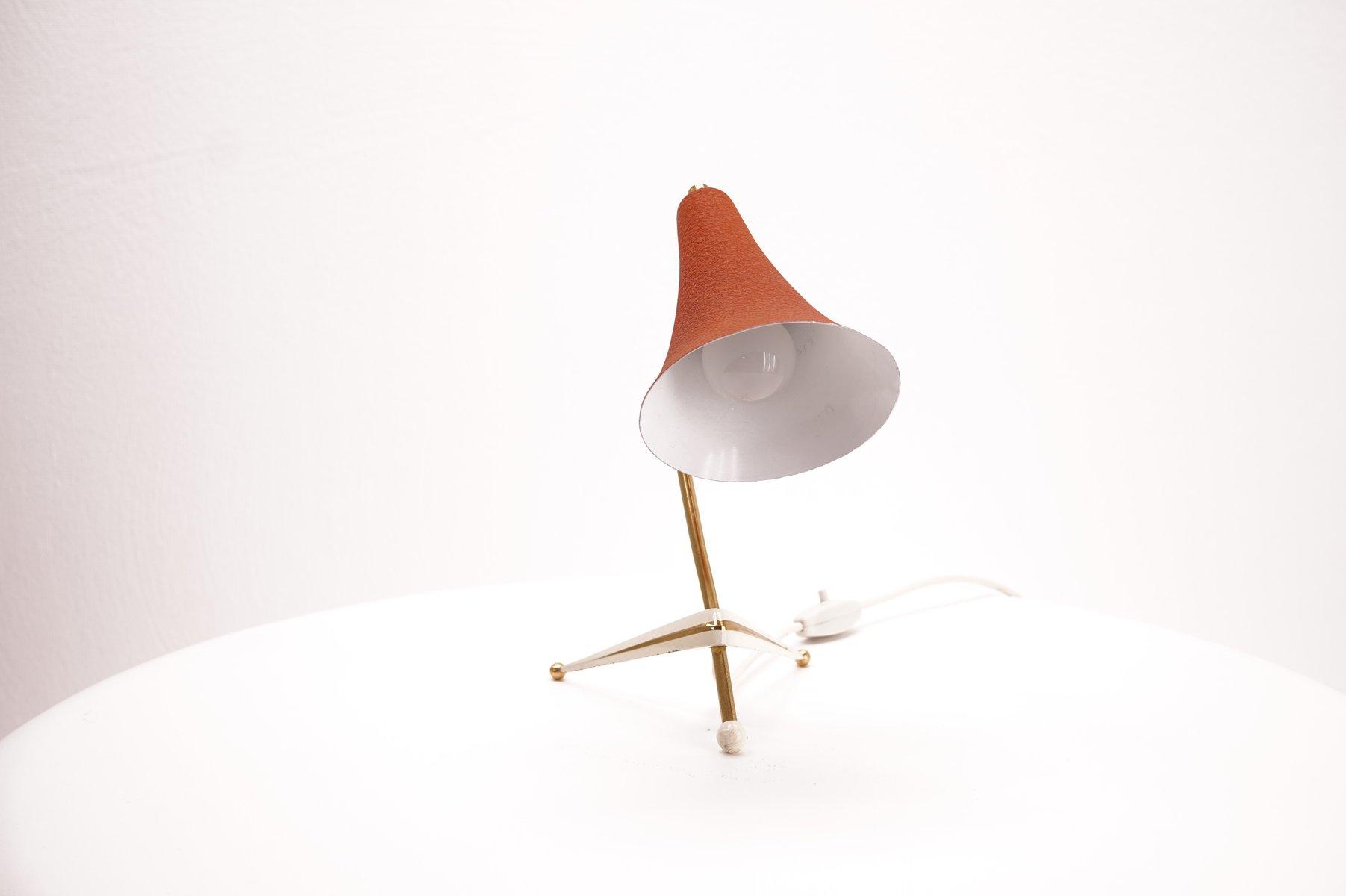 vintage tripod tischlampe mit schirm in orange bei pamono. Black Bedroom Furniture Sets. Home Design Ideas