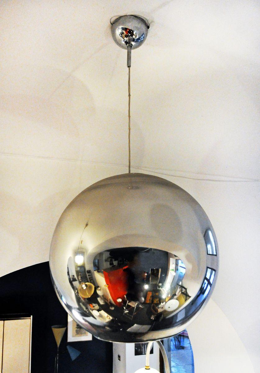 Metall Globe of Light Hängelampe von Roberto Menghi für Fontana Arte, ...