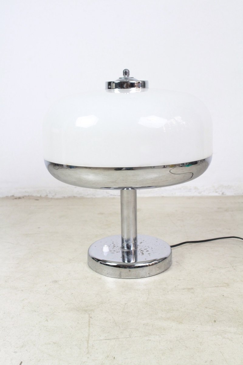 Chrom Tischlampe, 1960er