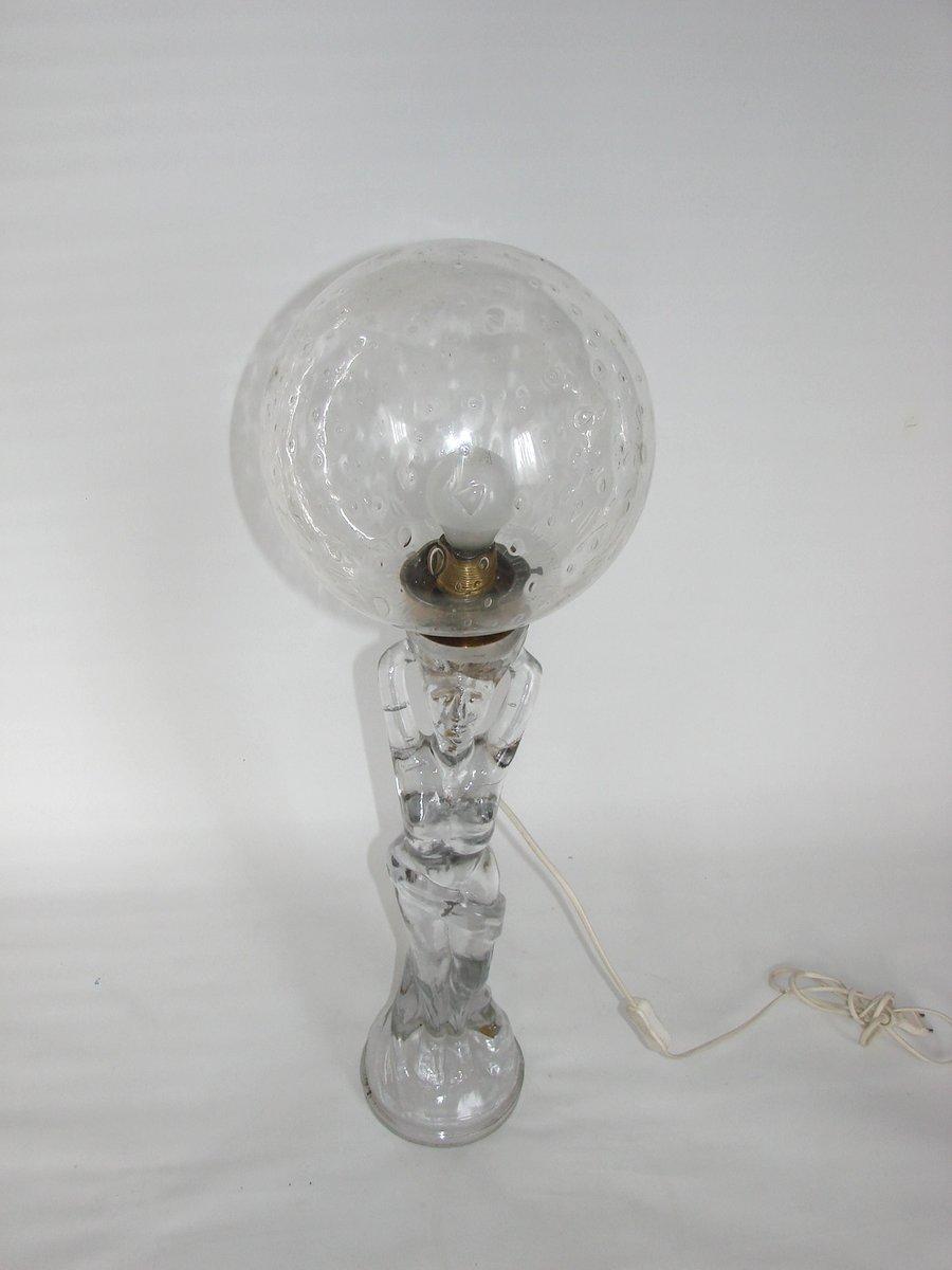 Moderne Glas Lampe, 1970er