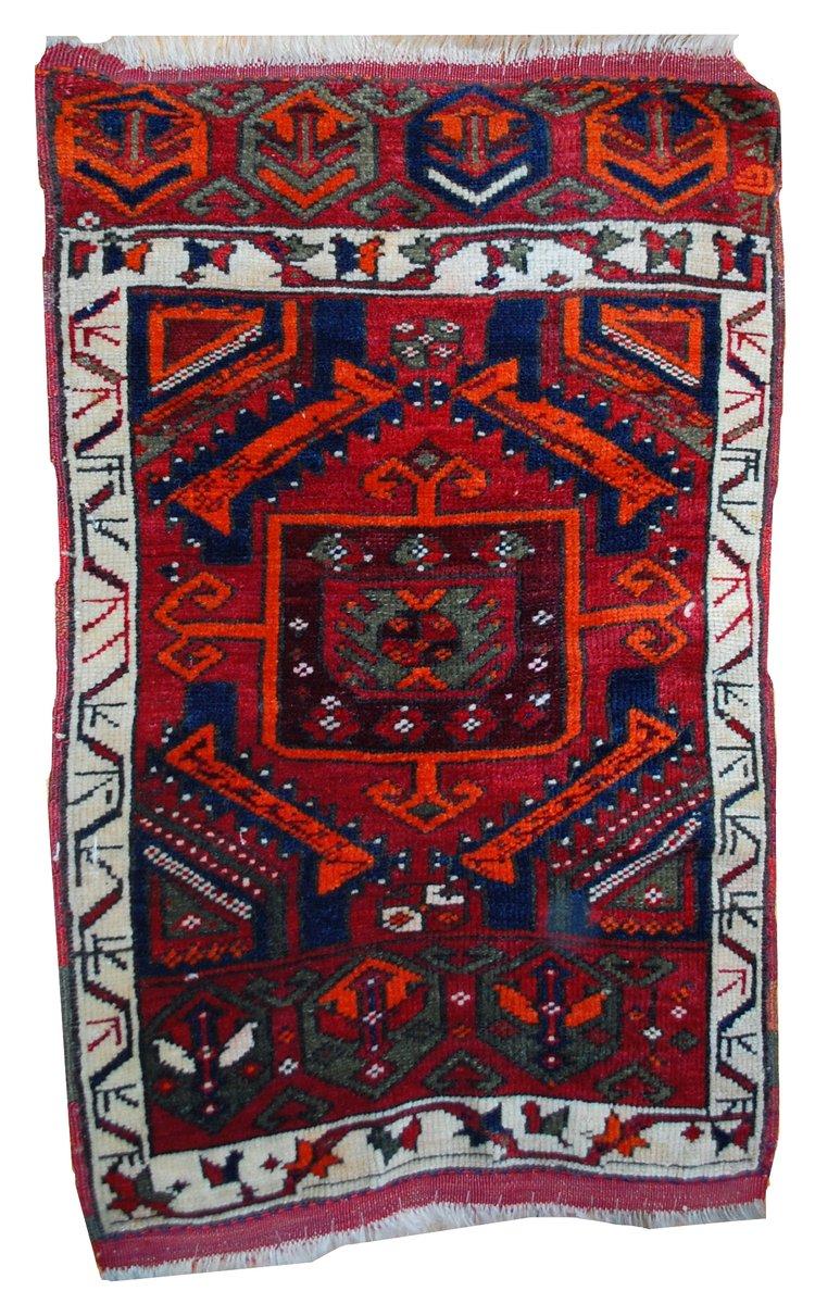 tapis yastik antique fait main turquie 1890s en vente sur pamono. Black Bedroom Furniture Sets. Home Design Ideas