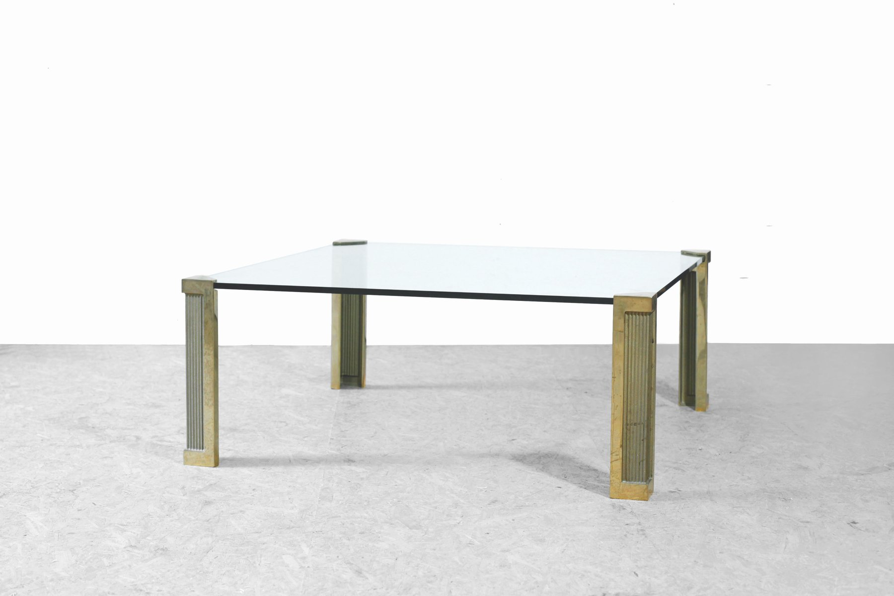 Bronze Gl Coffee Table By Peter Ghyczy 1970s