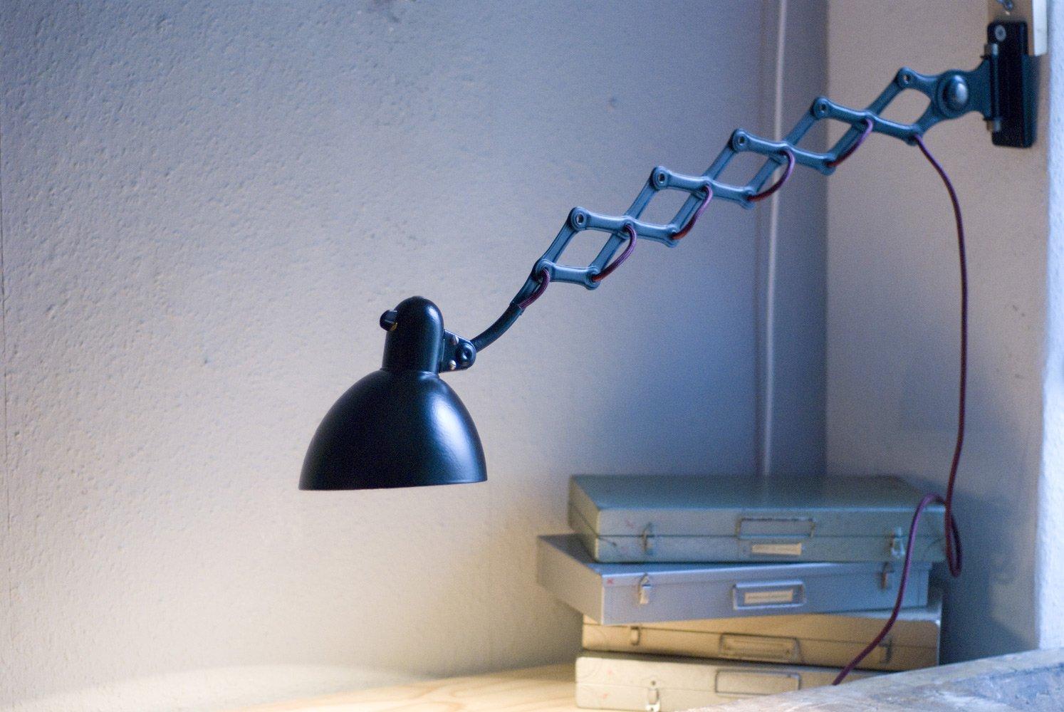 lampe ciseaux industrielle vintage en vente sur pamono. Black Bedroom Furniture Sets. Home Design Ideas