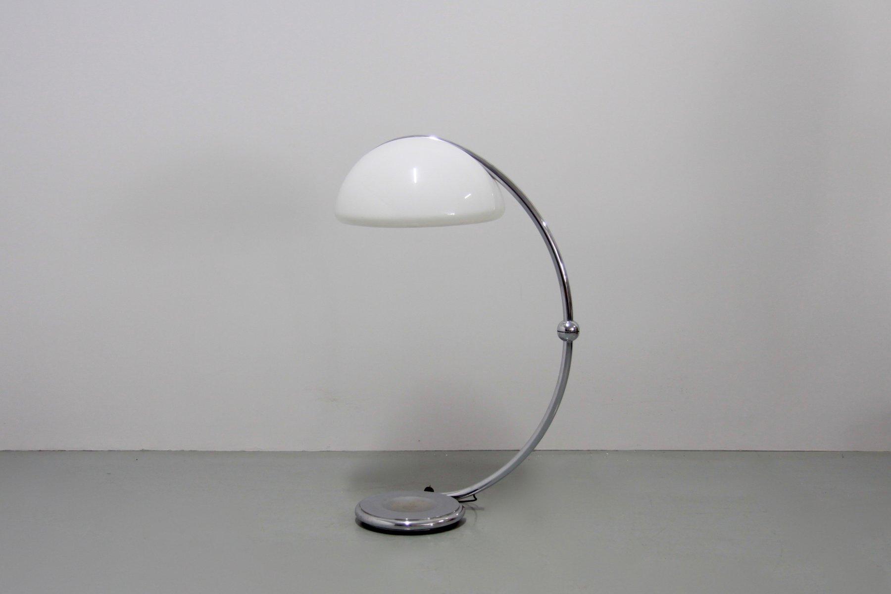 Serpente Chrom Stehlampe von Elio Martinelli für Martinelli Luce, 1970...