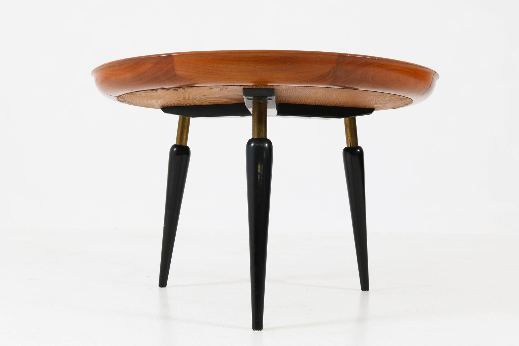 Italian Mid Century Modern Fruitwood Coffee Table With Inlay 1950s 7 2 719 00 Price Per Piece