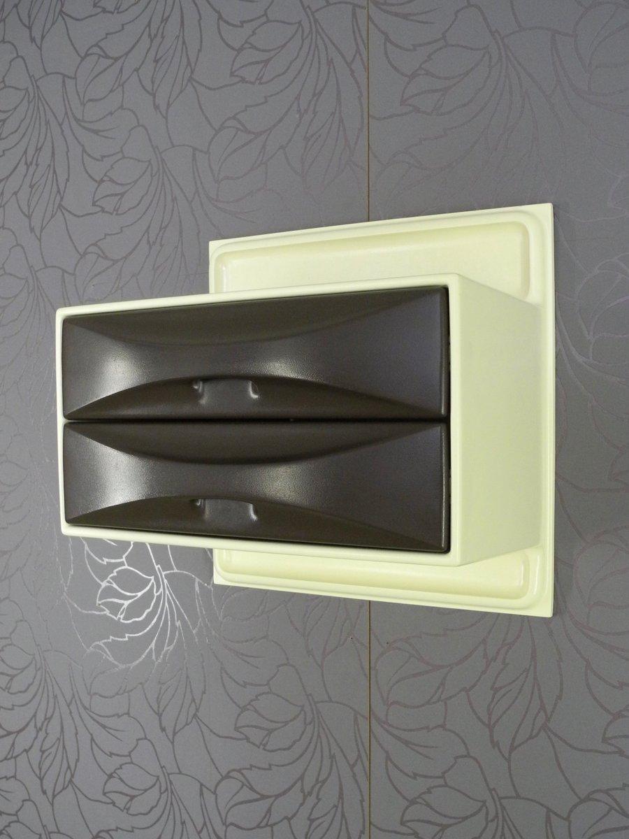 console murale avec 2 tiroirs par ernest igl pour wilhelm werndl 1970s en vente sur pamono. Black Bedroom Furniture Sets. Home Design Ideas