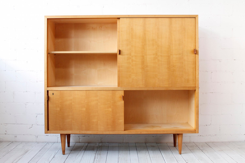 vintage kirschholz highboard von wk m bel 1950er bei pamono kaufen. Black Bedroom Furniture Sets. Home Design Ideas