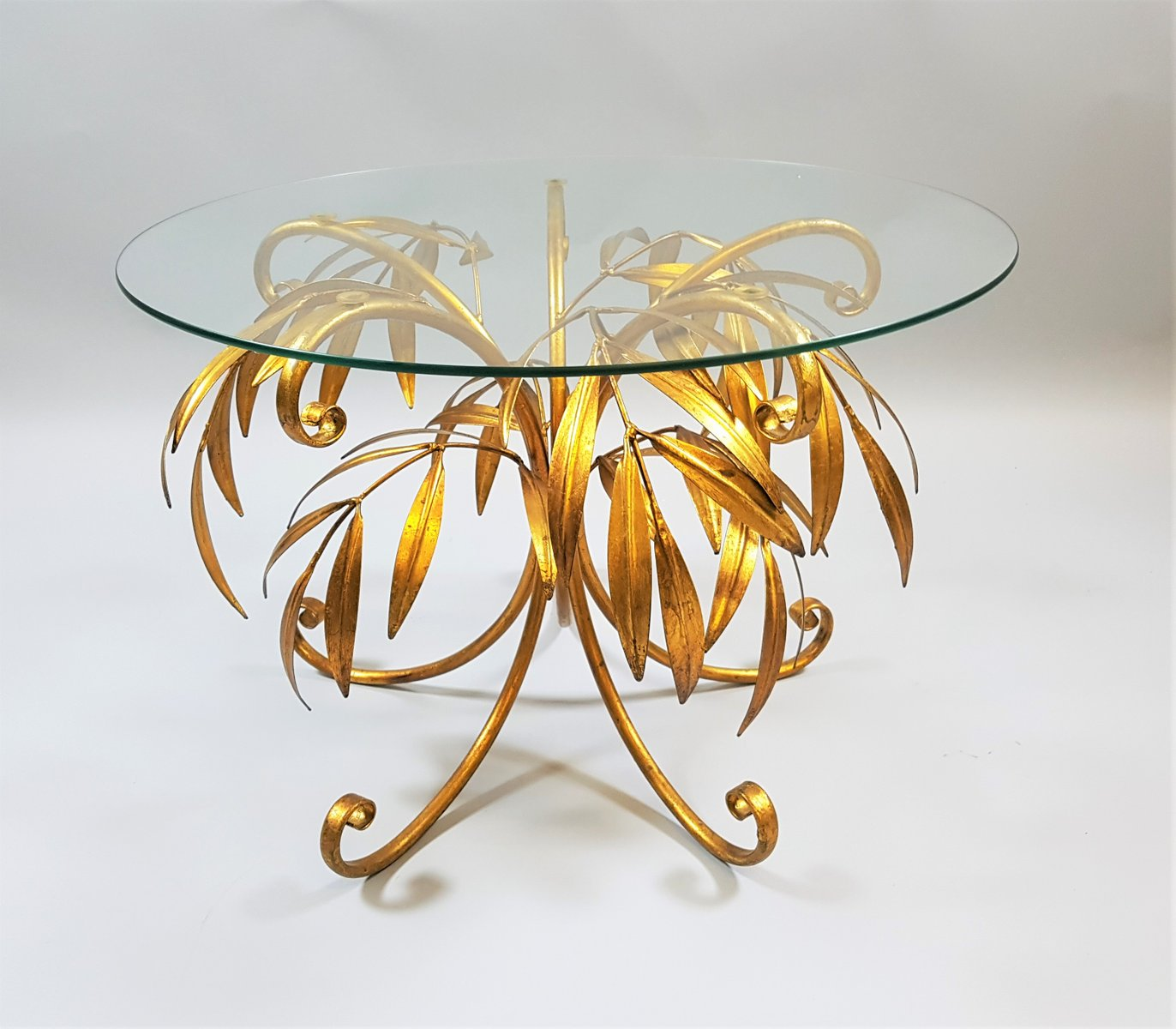Mid Century Gold Palm Tree Coffee Table By Hans Kögl