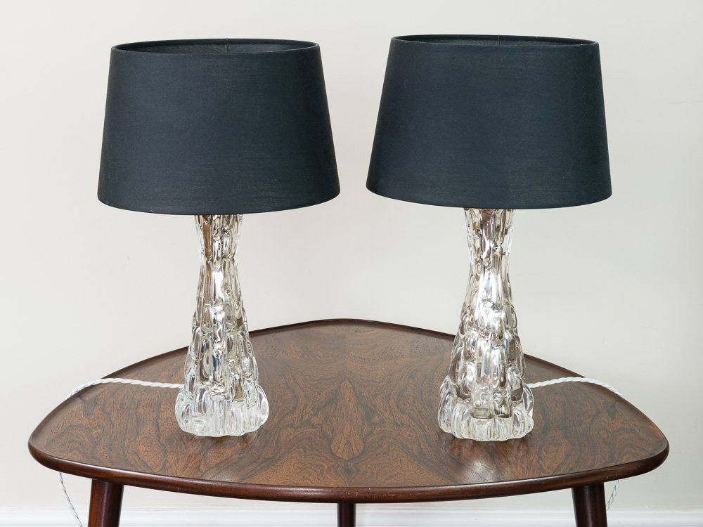 Kleine Croco Relief Glaslampen von Carl Fagerlund für Orrefors, 1960er...