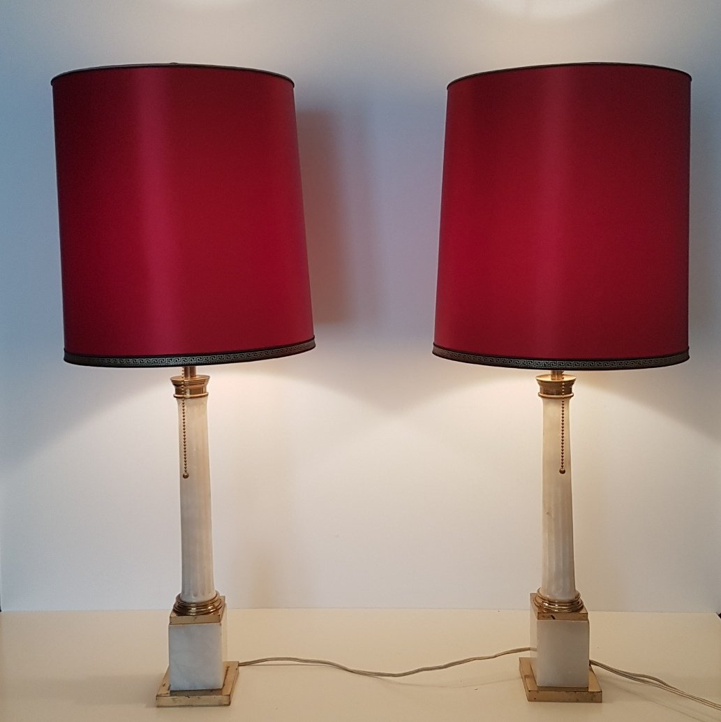 Lampade da tavolo grandi neoclassiche anni 39 60 set di 2 in vendita su pamono - Lampade da tavolo anni 50 ...