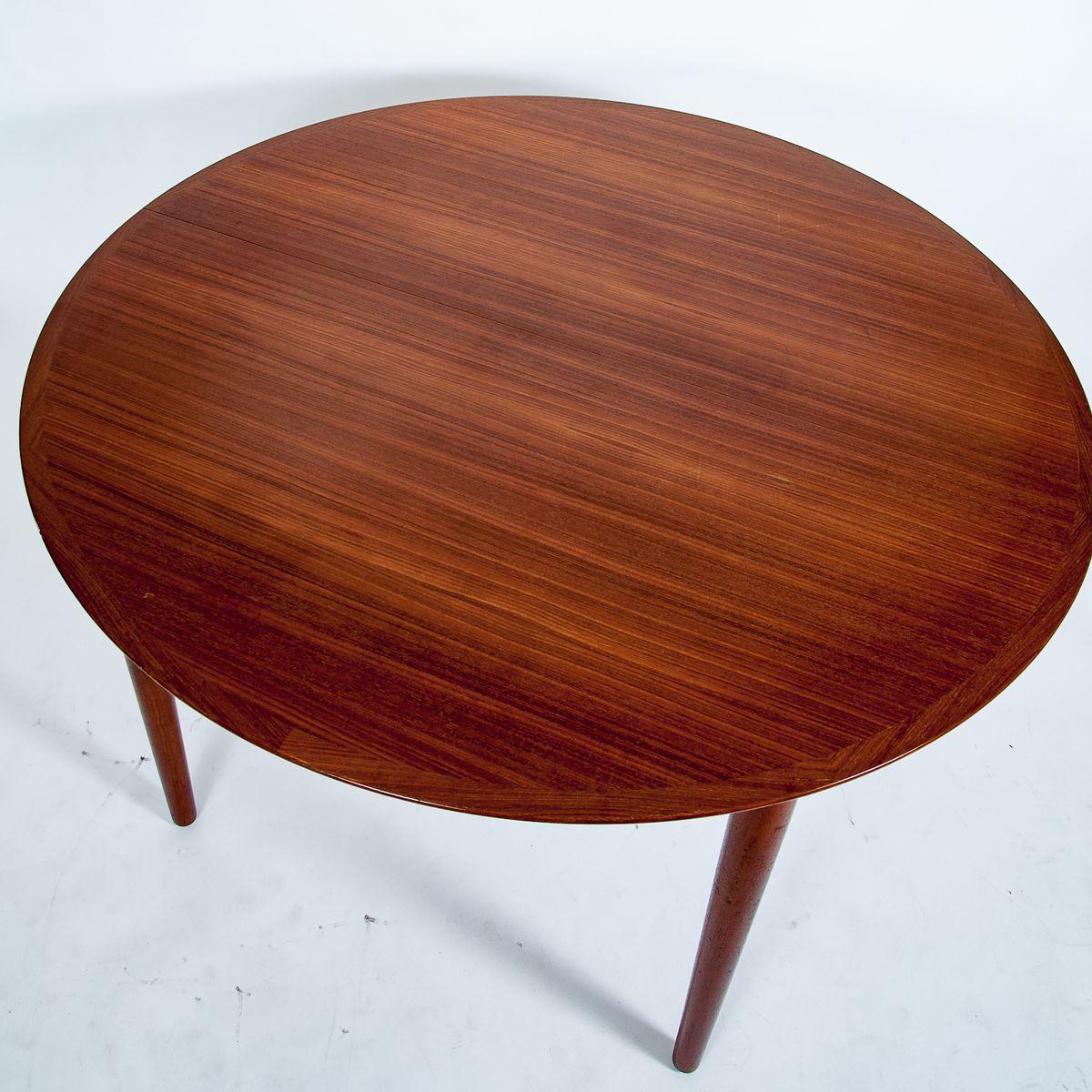 d nischer mid century esstisch von arne vodder f r sibast 1960er bei pamono kaufen. Black Bedroom Furniture Sets. Home Design Ideas