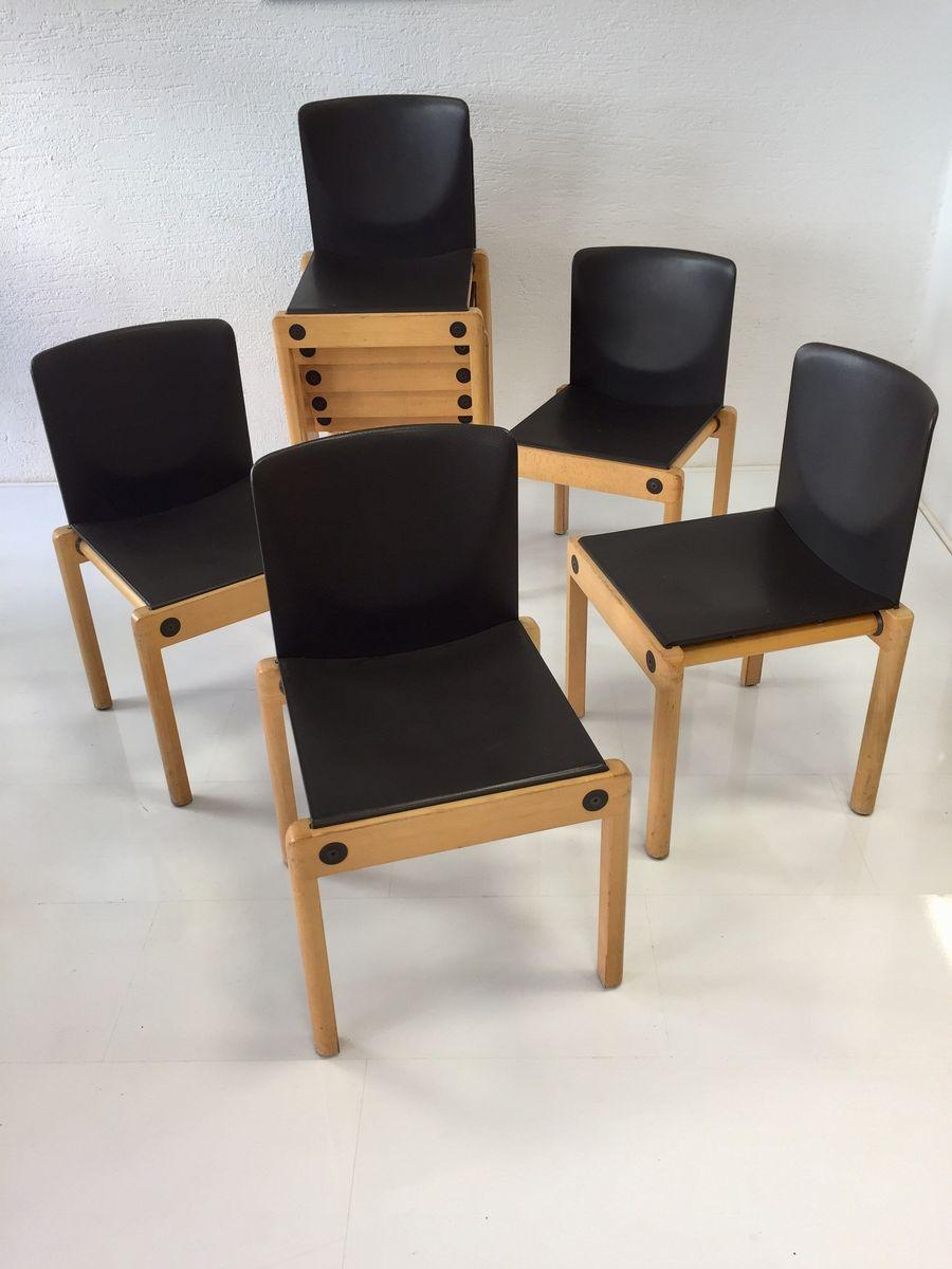 stapelbare modell 77 st hle von gerd lange f r schlapp m bel 1970er 10er set bei pamono kaufen. Black Bedroom Furniture Sets. Home Design Ideas