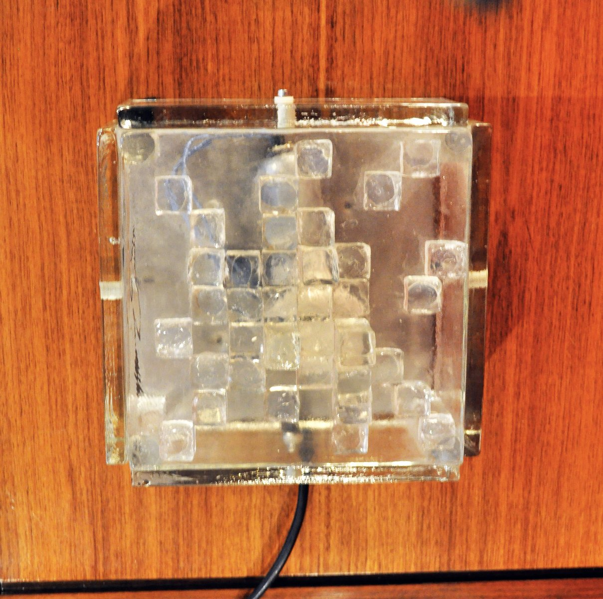 Glas Wandleuchte von Poliarte, 1970er