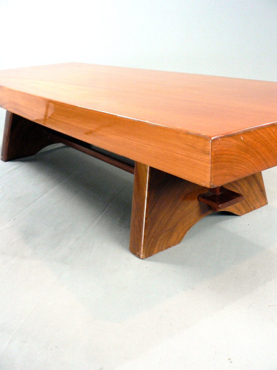 vintage solid wood coffee table for sale at pamono. Black Bedroom Furniture Sets. Home Design Ideas