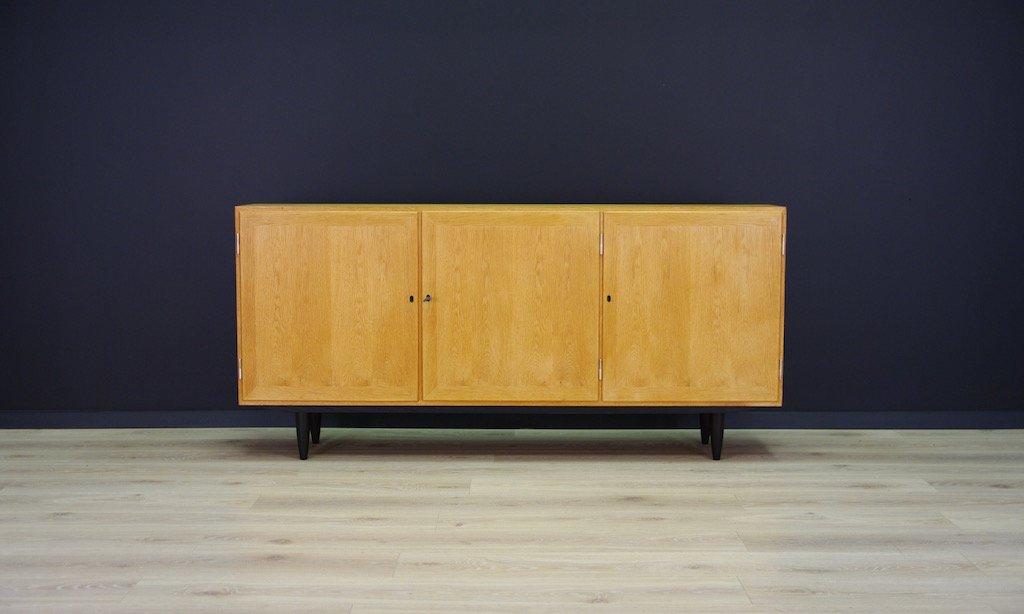 Vintage Sideboard mit Esche-Furnier von Carlo Jensen für Hundevad & Co...