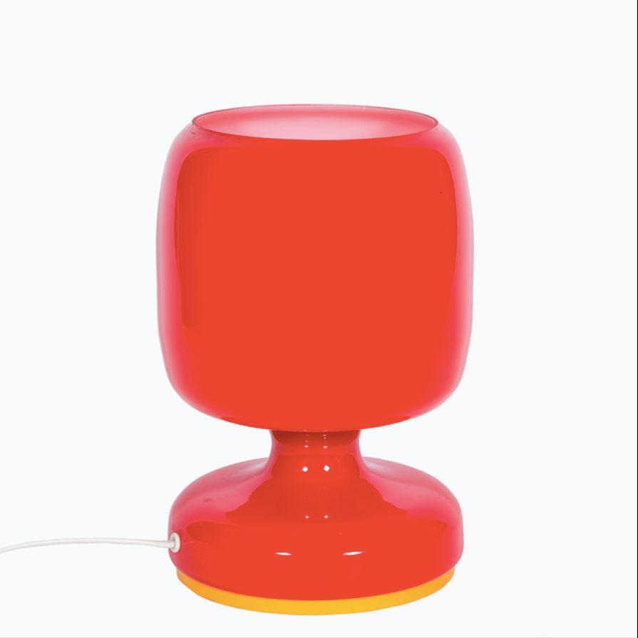 Tschechische Lampe in Rot, 1970er
