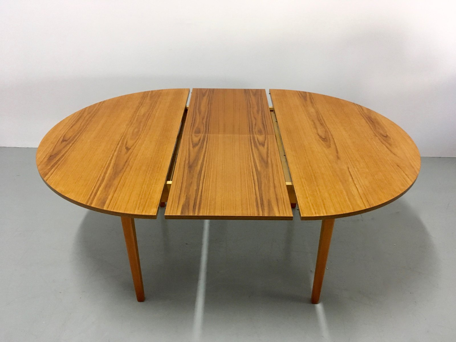 Vintage Danish Extendable Teak Dining Table 1960s For