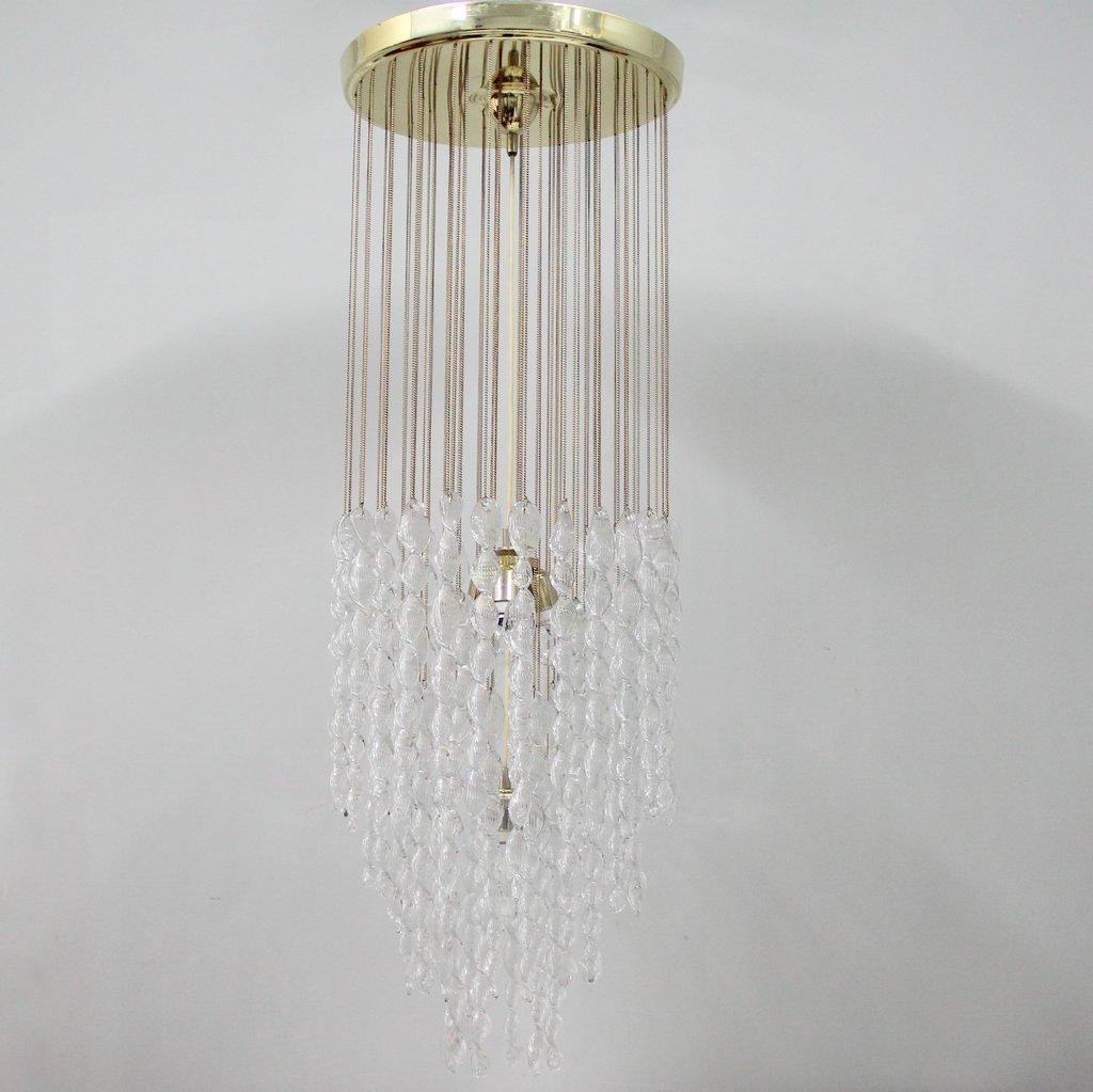 Italienische Murano Glas Deckenlampe, 1970er