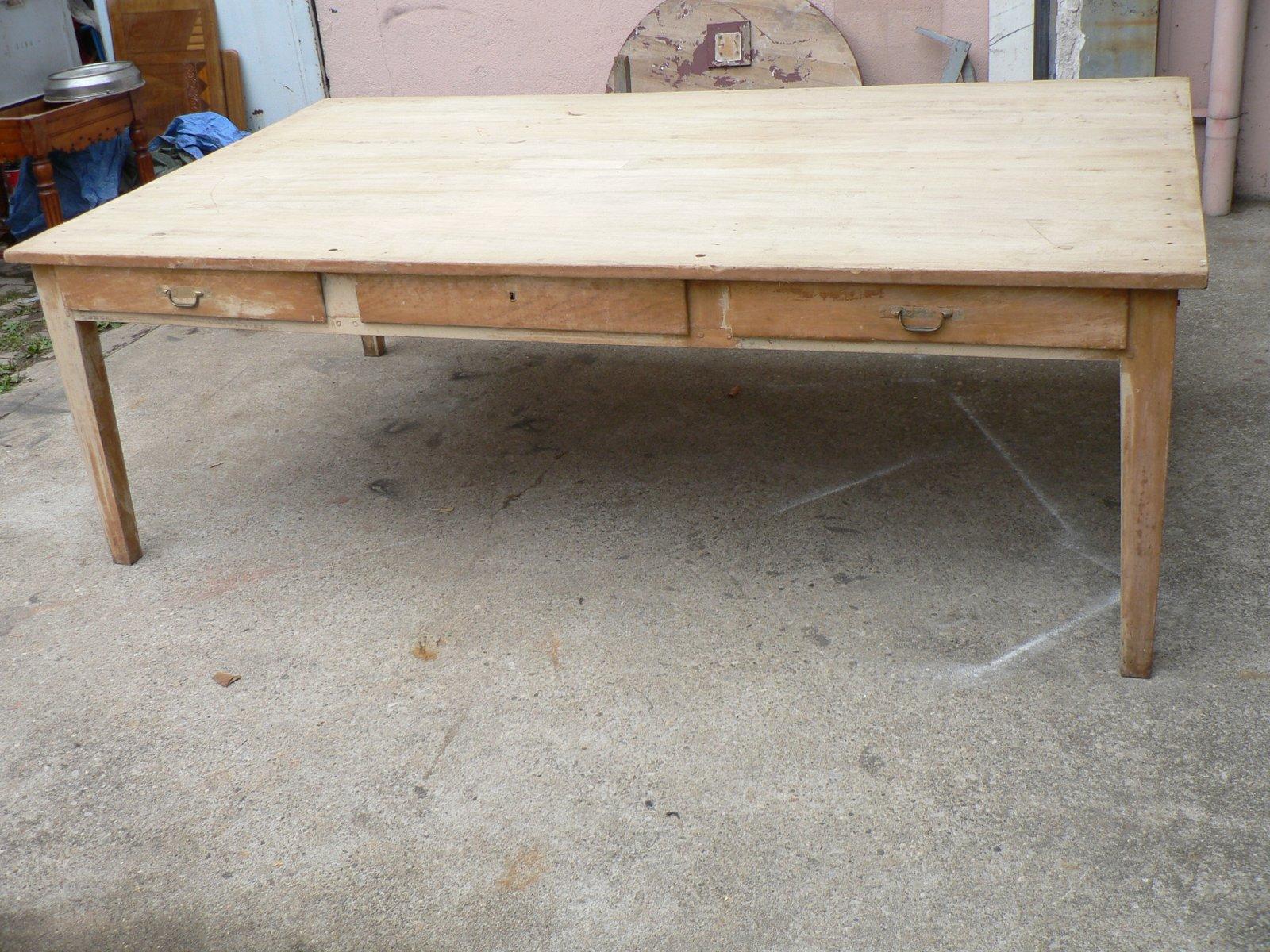 Großer Vintage Obstholz Tisch