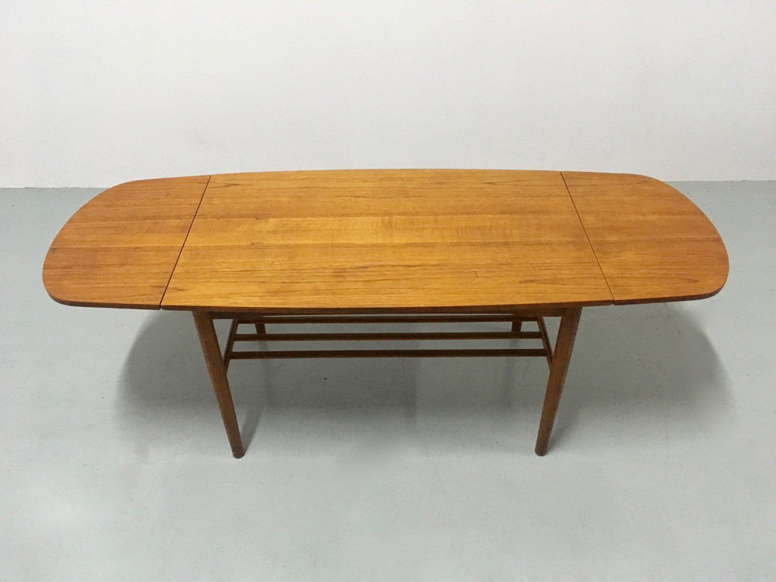 vintage danish extendable coffee table 1960s for sale at. Black Bedroom Furniture Sets. Home Design Ideas