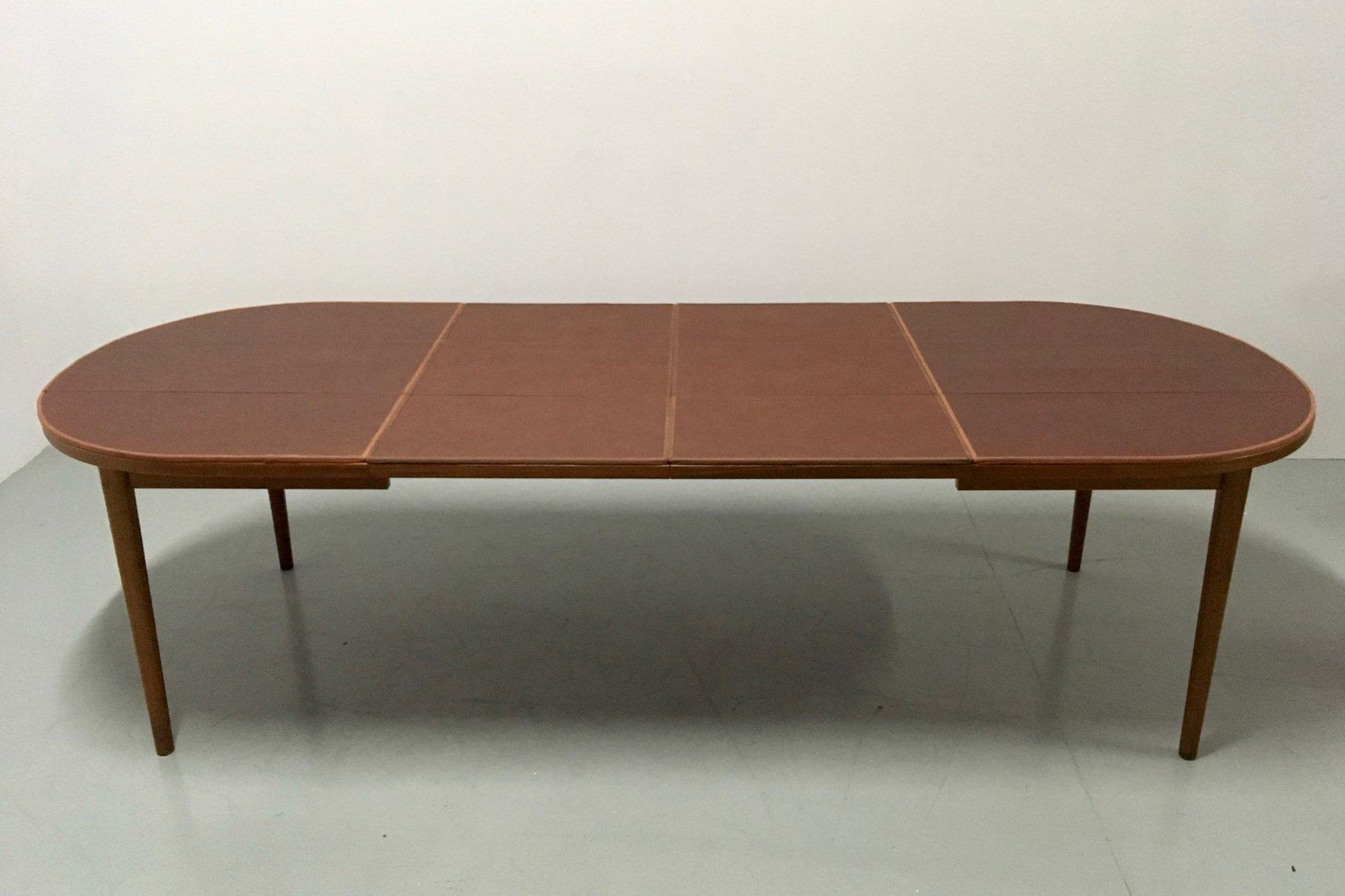 Tavolo Da Pranzo Vintage Doppio Allungabile In Teak Di Nils Jonsson Per Troeds In Vendita Su Pamono