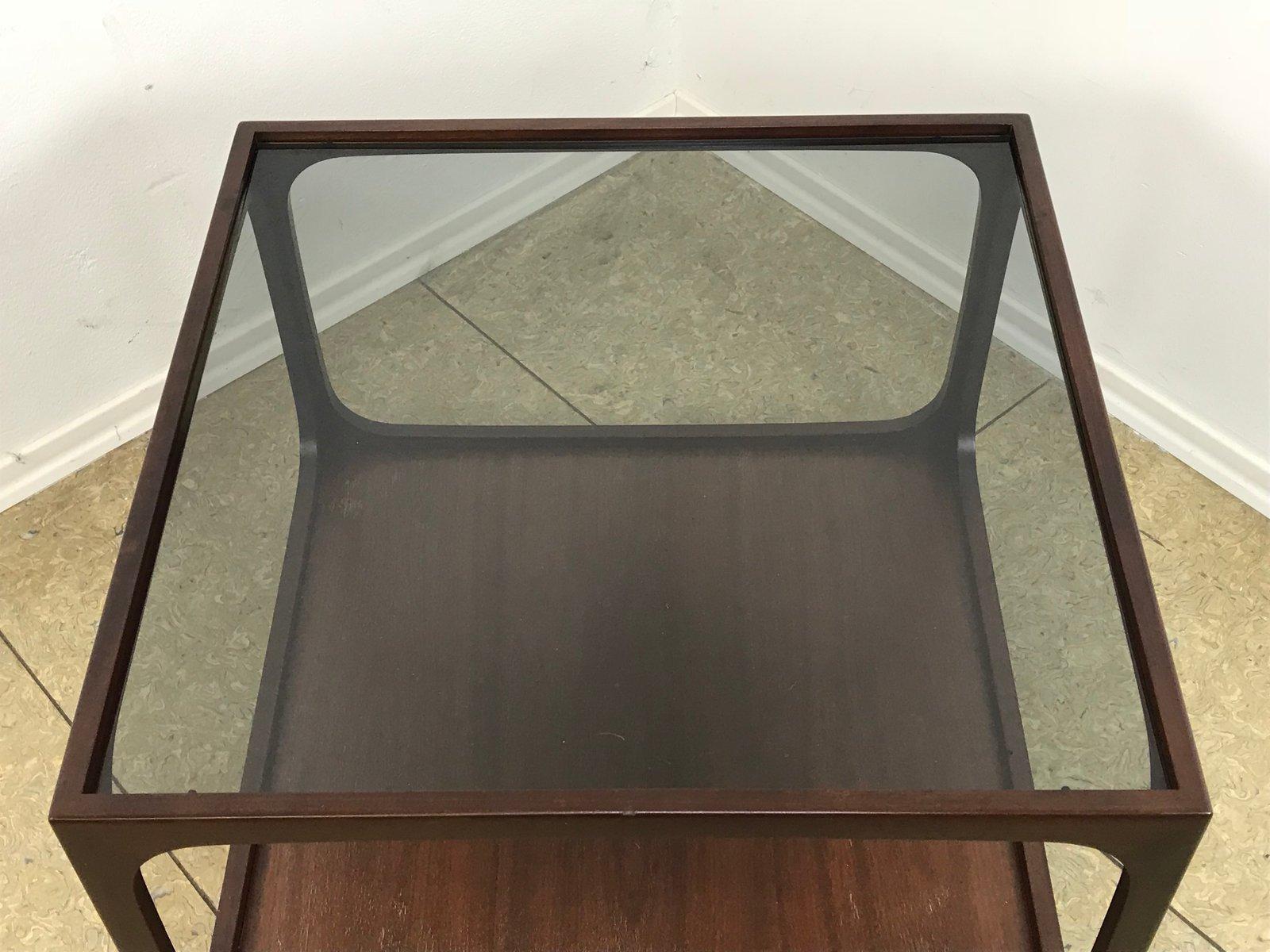 couchtisch aus glas und mahagoni von wilhelm renz 1960er. Black Bedroom Furniture Sets. Home Design Ideas