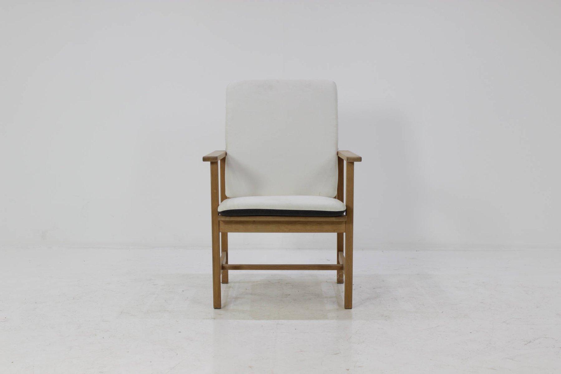 Vintage Eichenholz Armlehnstühle von Borge Mogensen für Fredericia, 6e...