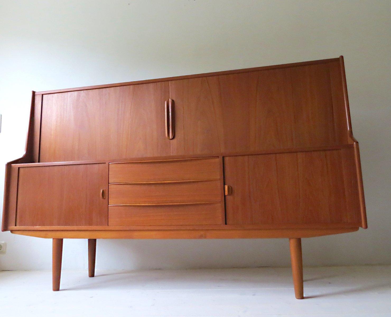d nisches vintage teak highboard von ib kofod larsen f r faarup 1960er bei pamono kaufen. Black Bedroom Furniture Sets. Home Design Ideas