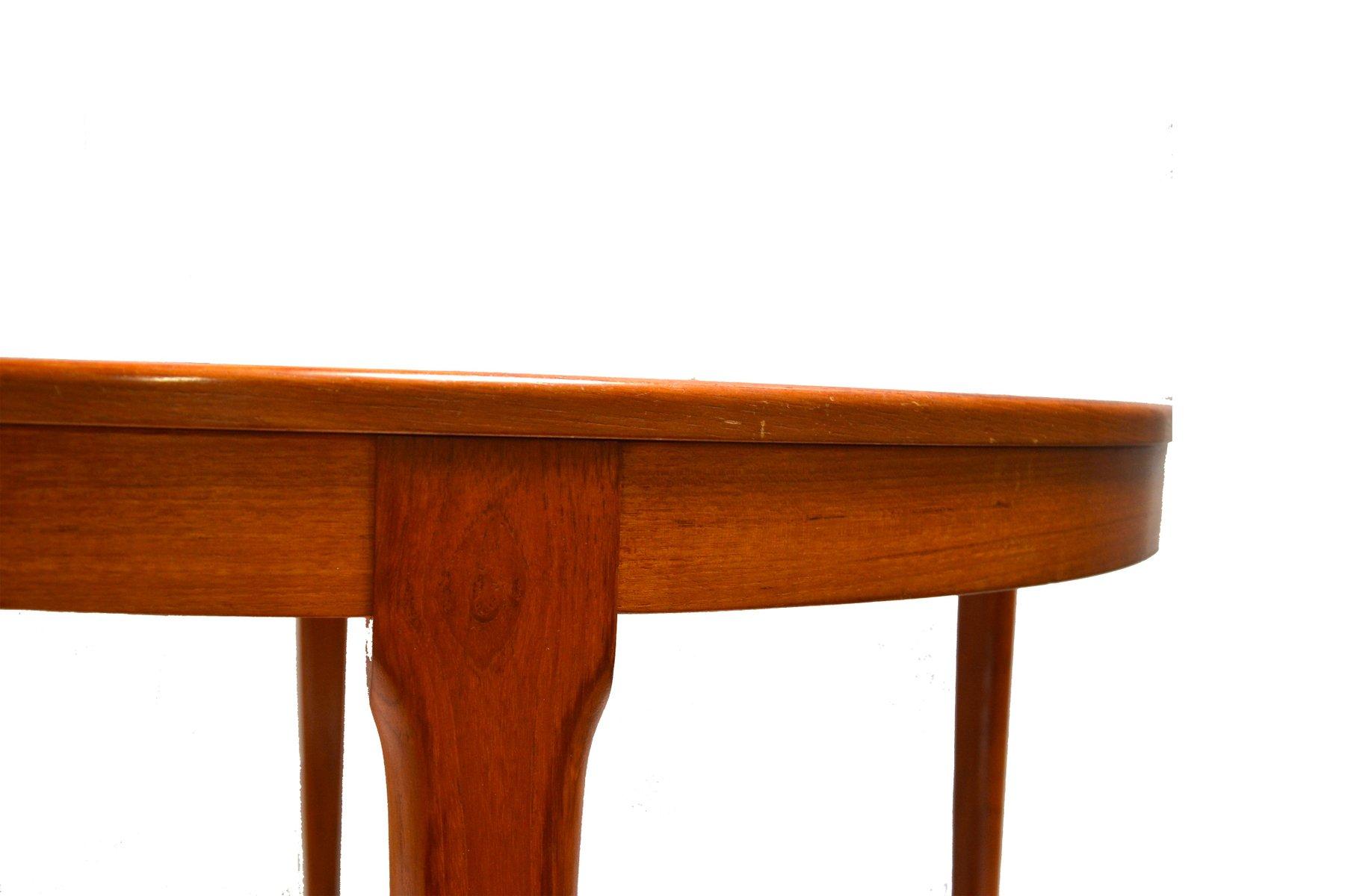 Tavolo da pranzo vintage allungabile rotondo di meubles tv in vendita su pamono - Tavolo pranzo rotondo allungabile ...