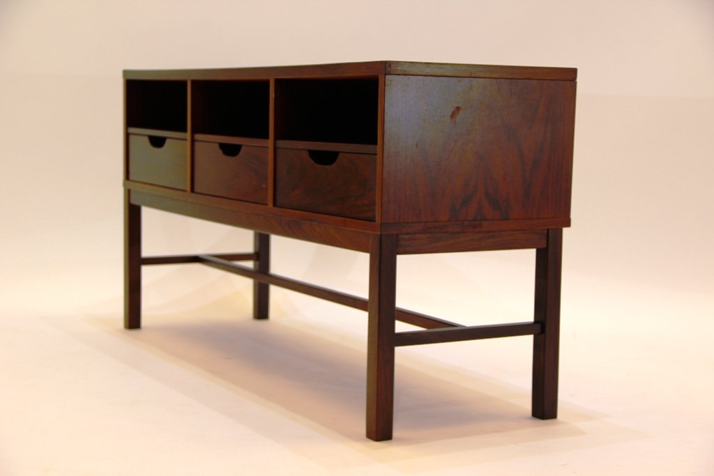 vintage palisander porzellan kommode mit spiegel von severin hansen f r haslev m belsnedkeri. Black Bedroom Furniture Sets. Home Design Ideas
