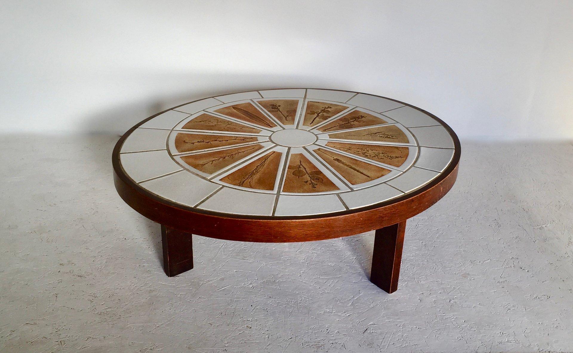 table basse herbarium en c ramique par roger capron 1960s en vente sur pamono. Black Bedroom Furniture Sets. Home Design Ideas