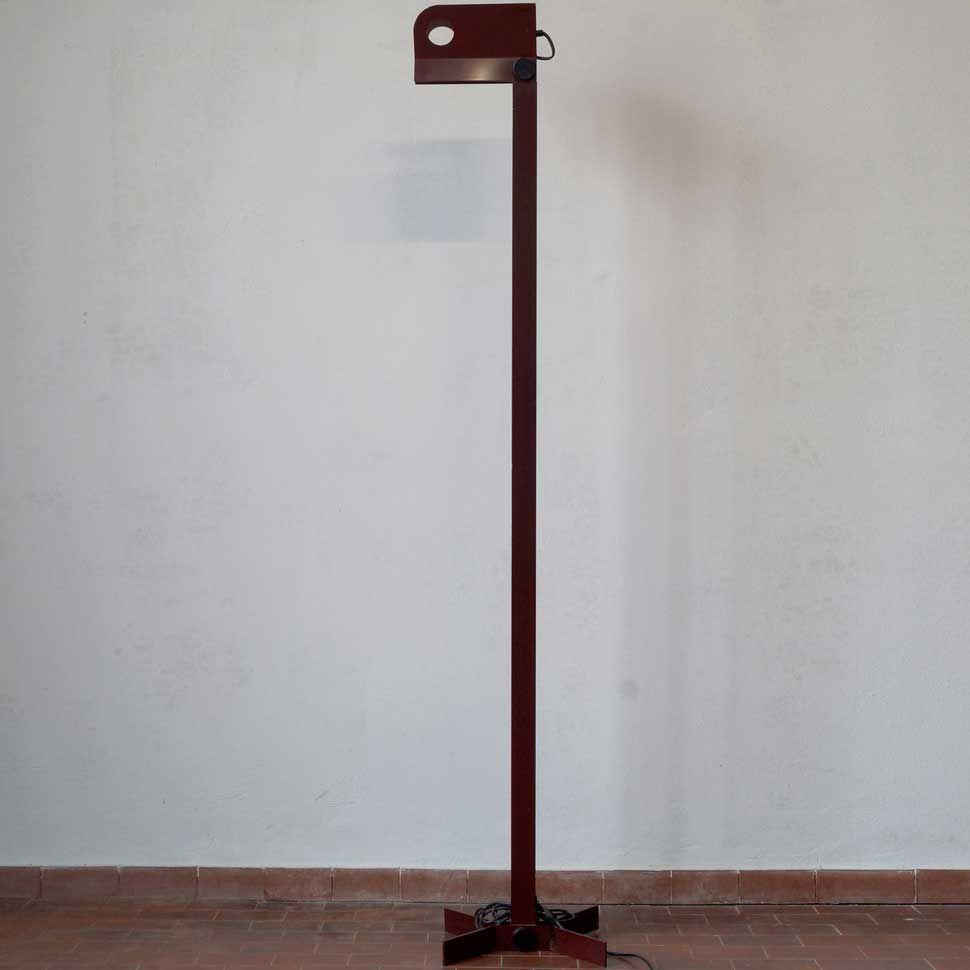 Metall Stehlampe von Stilnovo, 1970er