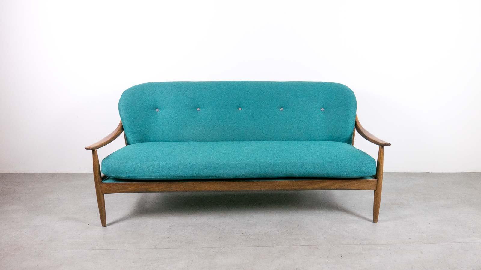 Mid-Century 3-Sitzer Sofa aus Teak von Greaves & Thomas