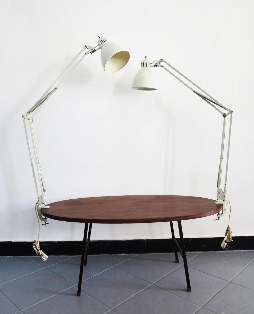 Norwegische Mid-Century Luxo Lampen von Naska Loris, 2er Set