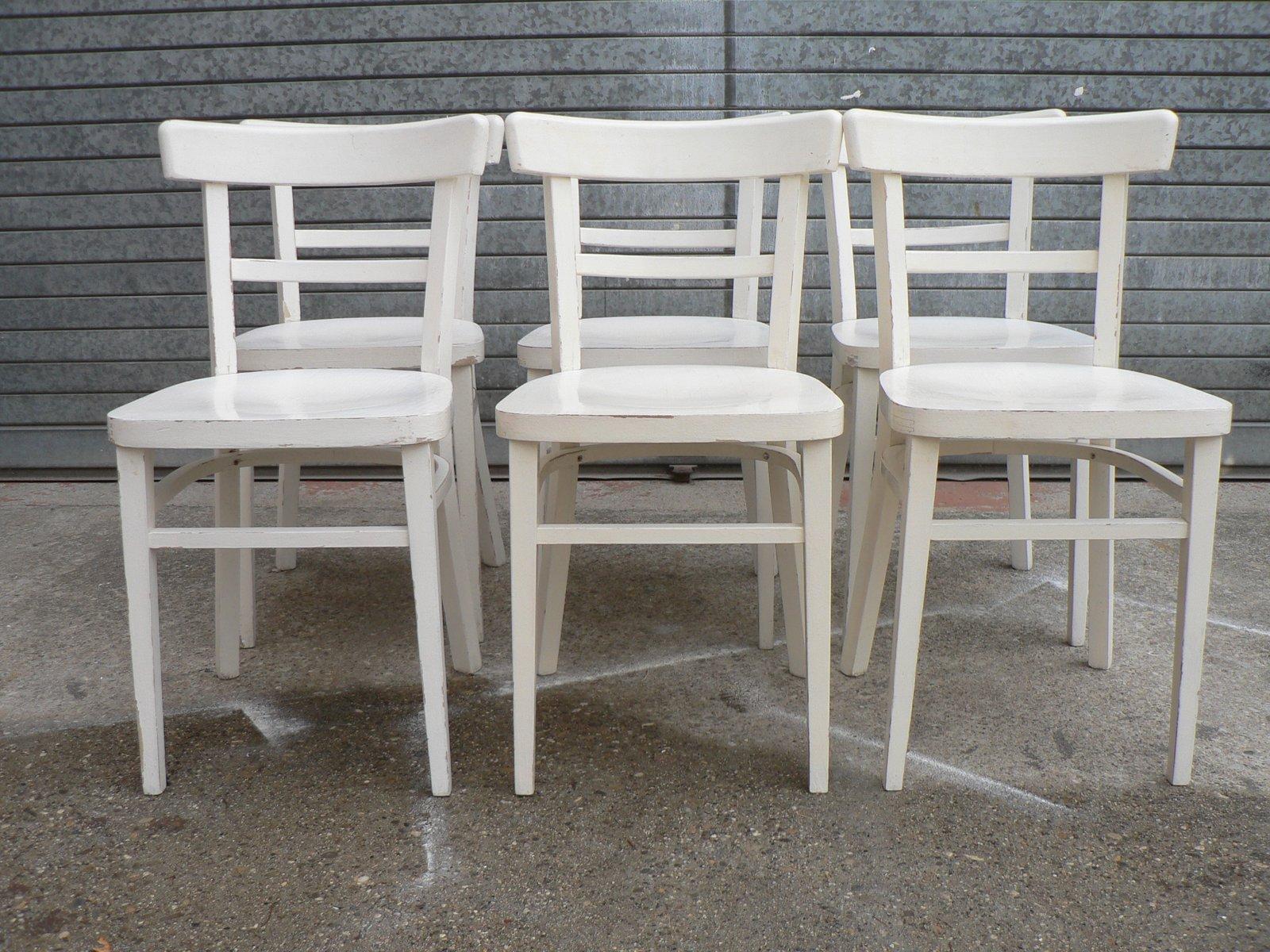 Sedie Bianche Design : Sedie da bistrò vintage bianche set di in vendita su pamono
