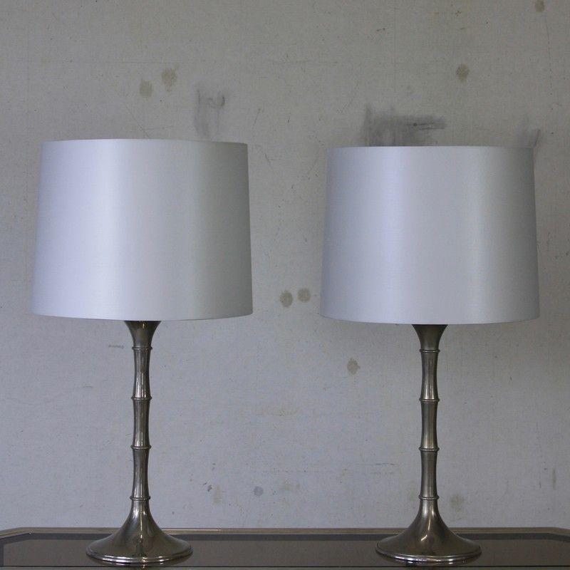 Silberne Tischlampen von Ingo Maurer, 1970er, 2er Set