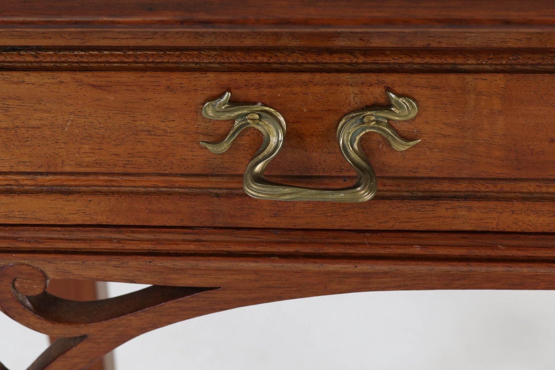 table console art nouveau en acajou france 1900s en vente sur pamono. Black Bedroom Furniture Sets. Home Design Ideas
