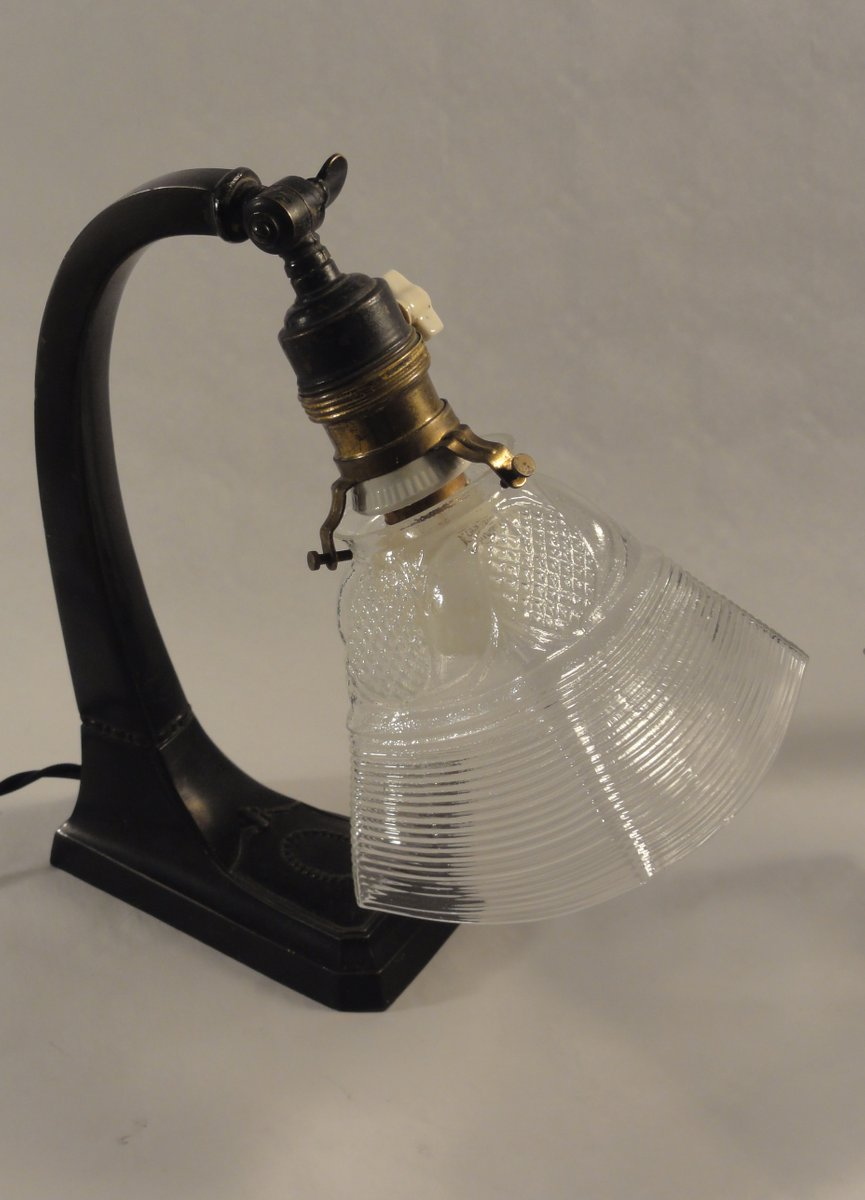 Jugendstil Nachttischlampen mit Geschwungenem Fuß, 1900er, 2er Set