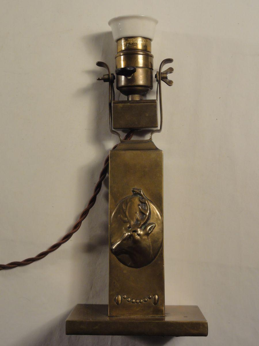 Jugendstil Messing Lampe von BAG Turgi, 1901