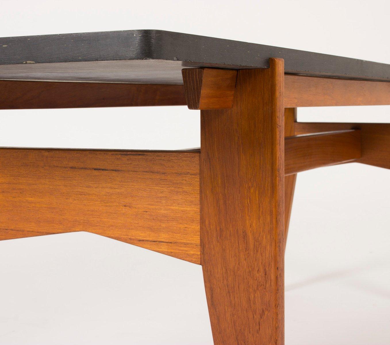 Dark Teak Coffee Table: Teak And Black Marble Coffee Table By Hans-Agne Jakobsson